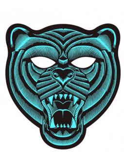 Máscara de Tigre con Luz Led y Activación por Sonido