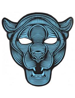 Máscara de Pantera con Luz Led y Activación por Sonido