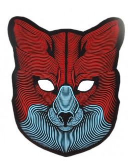 Máscara de Zorro con Luz Led y Activación por Sonido