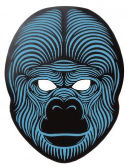 Máscara de Gorila con Luz Led y Activación por Sonido
