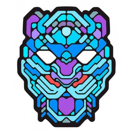 Máscara de Leopardo con Luz Led y Activación por Sonido