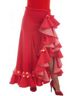 Falda Flamenca Roja para Mujer