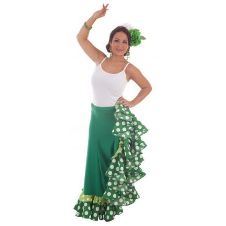 Falda Flamenca Verde para Mujer
