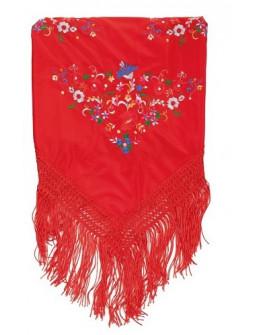 Mantón de Sevillana Rojo