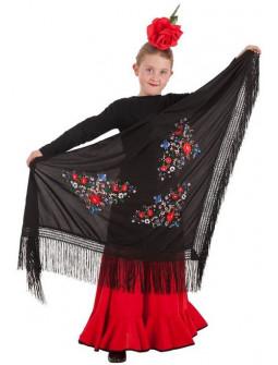 Mantón de Sevillana Negro