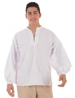 Camisa Medieval Blanca para Adulto