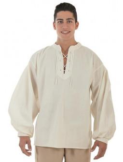 Camisa Medieval Beige para Adulto