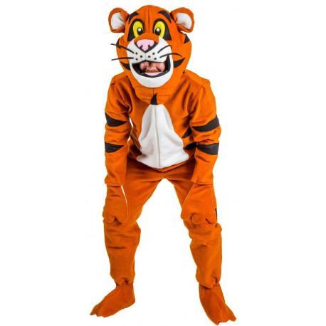 Disfraz de Tigre de la Selva Premium para Adulto