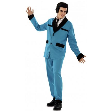 Disfraz de Rockabilly Azul Años 50 para Hombre