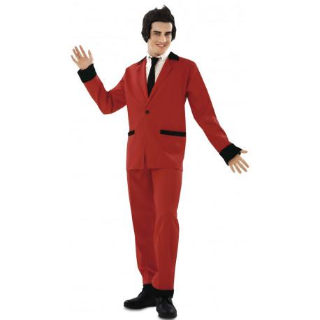 Disfraz de Rockabilly Rojo Años 50 para Hombre