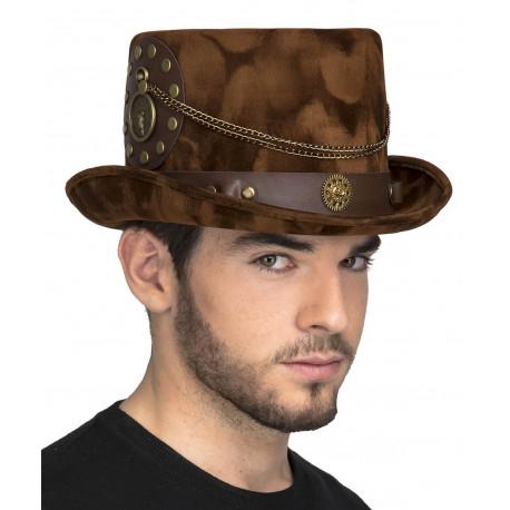 Sombrero Steampunk Marrón Premium