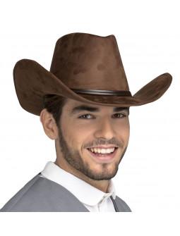 Sombrero de Cowboy Marrón Oscuro Premium