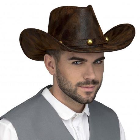 Sombrero de Vaquero Efecto Piel Premium