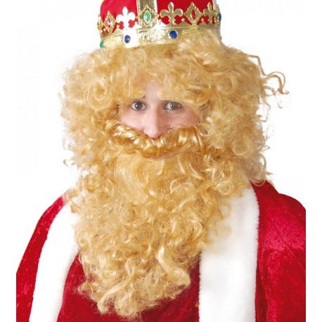 Peluca con barba oro