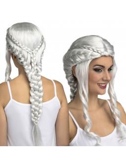 Peluca de Daenerys Targaryen Blanca con Trenzas