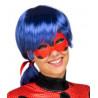 Peluca de LadyBug con Antifaz para Mujer