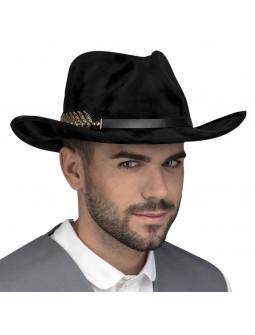 Sombrero Vaquero Negro Elegante para Adulto