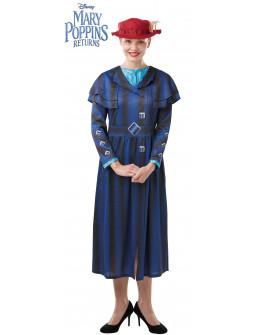 Disfraz de Mary Poppins Azul para Adulto