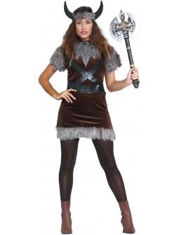 Disfraz de Vikinga Salvaje para Mujer