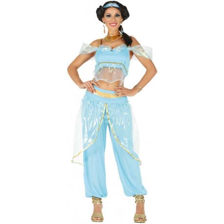 Disfraz de Princesa Jasmine Azul para Mujer