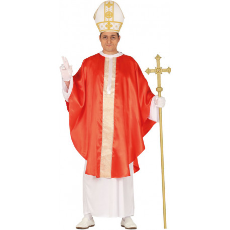 Disfraz de Papa con Capa para Adulto