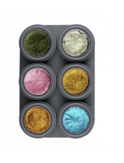 Paleta Maquillaje Metálico al Agua 6 colores