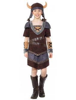 Disfraz de Guerrera Vikinga Infantil
