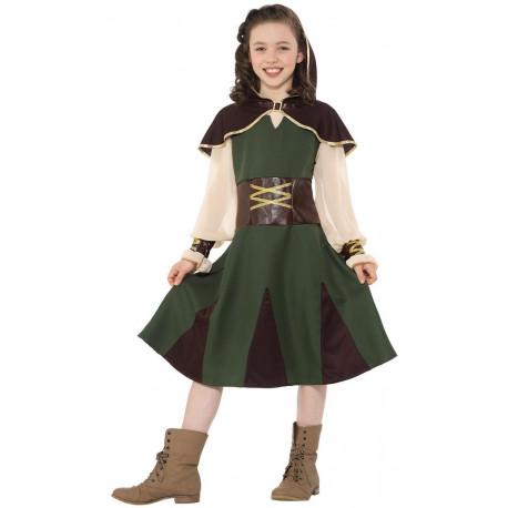 Disfraz de Arquera Robin Hood para Niña