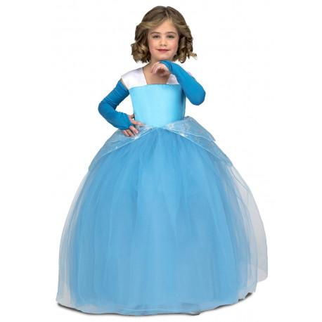 Disfraz de Cenicienta con Falda de Tul para Niña