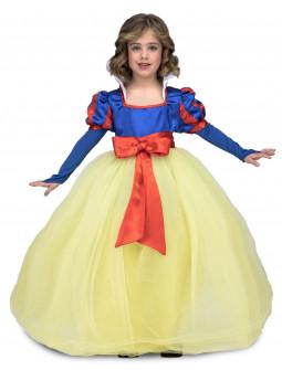 Disfraz de Blancanieves con Falda de Tul para Niña