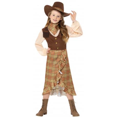 Disfraz de Vaquera con Sombrero para Niña