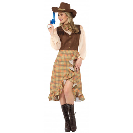 Disfraz de Vaquera con Sombrero para Mujer