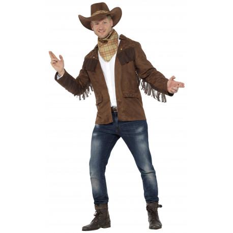 Disfraz de Vaquero con Chaqueta para Hombre