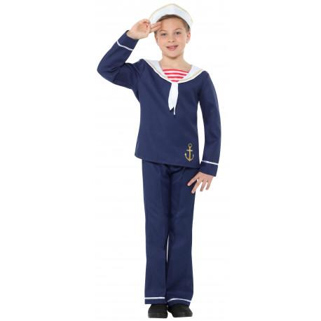 Disfraz de Marinero Azul para Niño