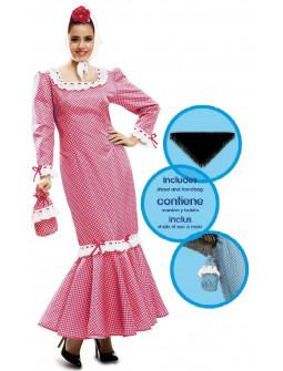 Disfraz de Chulapa Madrileña Rosa para Mujer