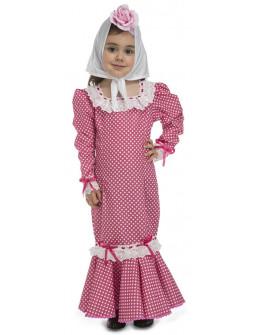 Disfraz de Chulapa Madrileña Rosa para Bebé
