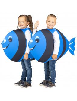 Disfraz de Pez Amarillo y Azul Infantil