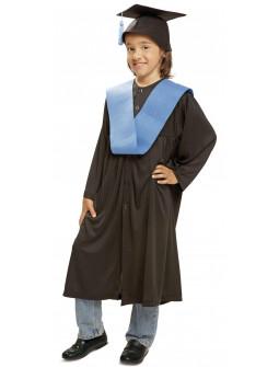 Disfraz de Graduado con Beca Azul Infantil