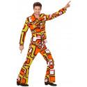 Traje Disco Años 70 Multicolor para Hombre