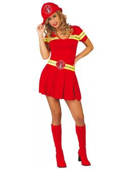 Disfraz de Bombera Roja para Mujer