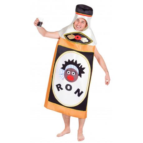 Disfraz de Botella de Ron Negrita para Adulto