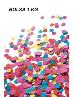 Bolsa de Confetti de Colores para Fiestas