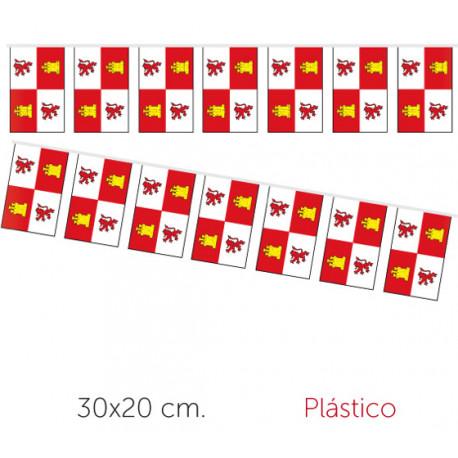 Guirnalda con Banderines de Castilla y León