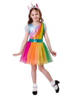 Disfraz de Unicornio con Tutú Arcoiris para Niña