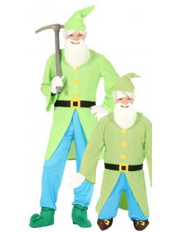 Disfraz de Enanito Verde Paticorto para Adulto