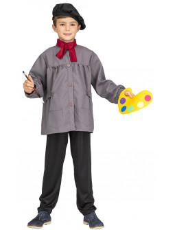Disfraz de Pintor con Paleta y Pincel para Niño