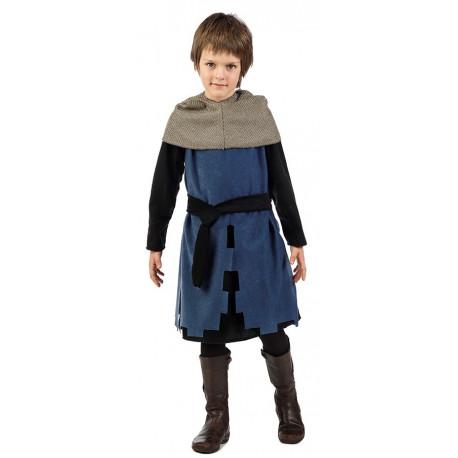 Disfraz de Caballero Medieval Azul para Niño