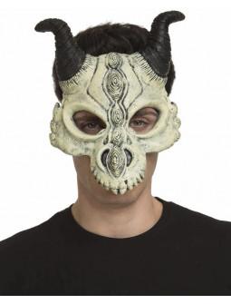 Máscara de Cráneo de Dragón con Cuernos