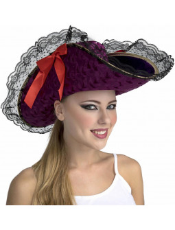 Sombrero de Capitana Pirata Elegante