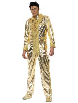 Disfraz de Elvis Presley Dorado para Hombre